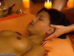 Brunette, Massage, MILF