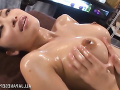 Asian, Babe, Big Tits, Lesbian, Stockings