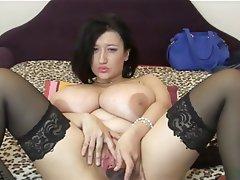 BBW, Big Boobs, Dildo, Masturbation, Webcam