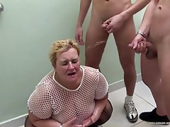 Group Sex, Granny, Mature, BBW