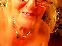 Sucking, Blonde, Mature, British, Granny