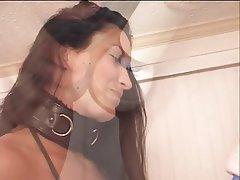 BDSM, Blowjob, Facial, Brunette, Latex