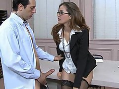 Office, Stockings, Cute, Babe