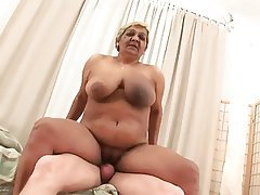 Cumshot, Old and Young, Amateur, Big Boobs, Granny