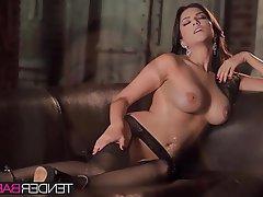 Babe, Big Boobs, Brunette, Masturbation